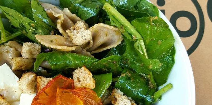 Prato saudável do restaurante Bio, no Itaim