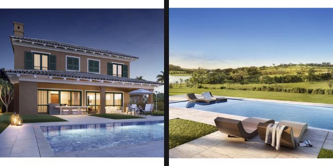 Projeto de casa e piscina na Fazenda da Grama