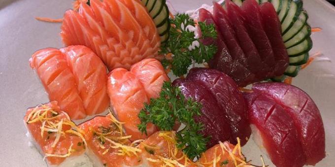 sushi e sashimi fresquíssimos no Japengo, no Litoral Norte