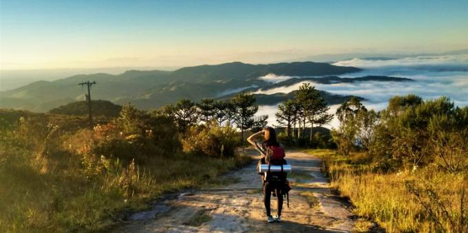 Visual do alto do Parque Nacional em Paraty