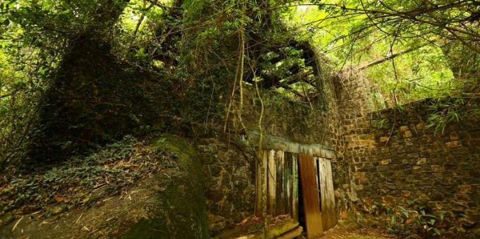 Ruínas do antigo engenho de cana de açúcar em Paraty