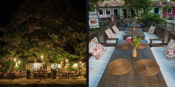 Restaurantes: vista de dia e de noite do Silvana & Cia