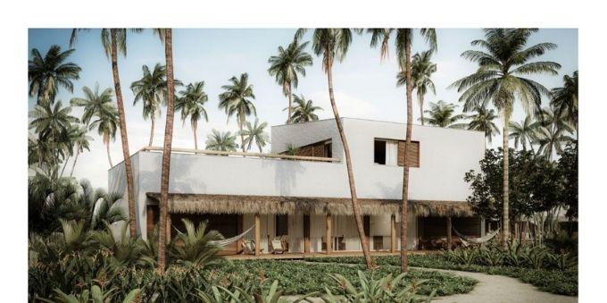 Perspectiva de uma das Villas do Hotel em Trancoso